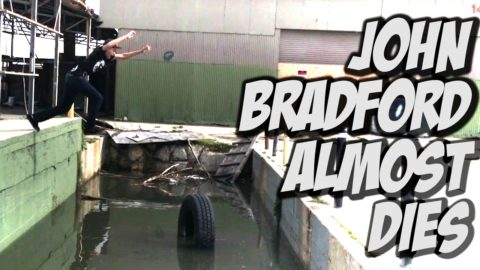 JOHN BRADFORD ALMOST DIES SKATEBOARDING !!! - A DAY WITH NKA - Nka Vids Skateboarding