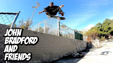 JOHN BRADFORD AND FRIENDS INSANE SKATE DAY !!! - NKA VIDS - | Nka Vids Skateboarding