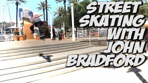 JOHN BRADFORD AND FRIENDS SKATING LONG BEACH !!! - A DAY WITH NKA - Nka Vids Skateboarding