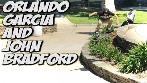 JOHN BRADFORD & ORLANDO GARCIA TAKE OVER !!! - A DAY WITH NKA - Nka Vids Skateboarding