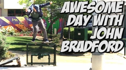 JOHN BRADFORD SKATING THE STREETS !!! - A DAY WITH NKA - - Nka Vids Skateboarding