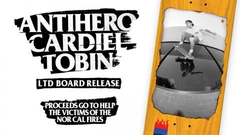John Cardiel x Tobin Yelland Antihero Board to Benefit Fire Victims - Deluxe Distribution