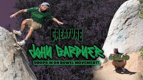 John Gardner Drops in on Bowel Movement! | Making of the latest Creature Ad | Creature Skateboards