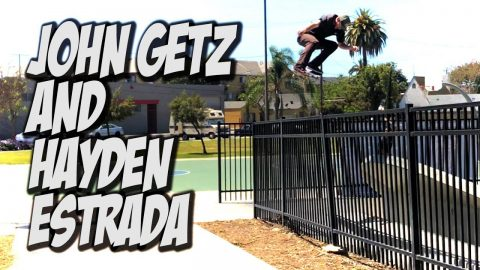 JOHN GETZ AND HAYDEN ESTRADA SKATE LBC AND MORE !!! - NKA VIDS - - Nka Vids Skateboarding