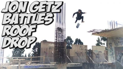 JOHN GETZ INSANE HARD FLIP !!! - A DAY WITH NKA - - Nka Vids Skateboarding