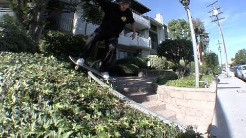 Jordan Maxham Lil Monsters Boardslide Curve Rail to Halfcab Off Curb Raw Cut - E. Clavel