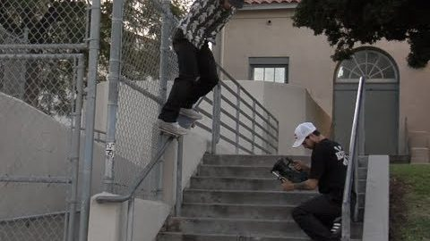 Jordan Maxham Lil Monsters bs Grind Wall Rail Raw Cut - E. Clavel