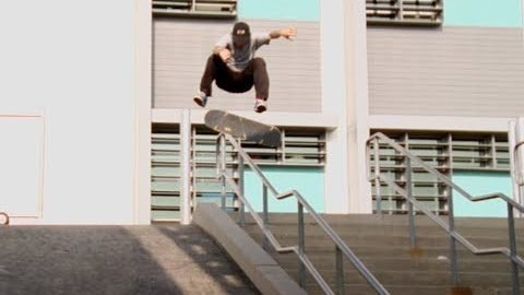 Jordan Maxham Lil Monsters fs Shifty Flip Over Rail Into Bank Raw Cut | E. Clavel