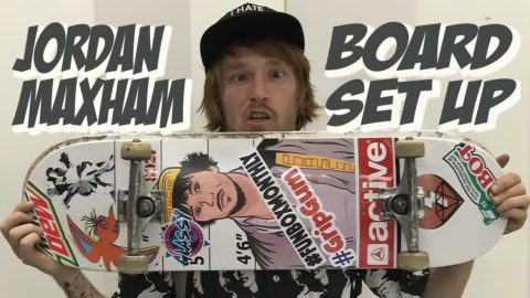 JORDAN MAXHAM SOPHISTICATED BOARD SET UP & INTERVIEW !!! FINAL - Nka Vids Skateboarding