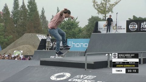 Joseph Garbaccio: 1st Final Skateboard Street Pro - FISE World Series Chengdu - FISE
