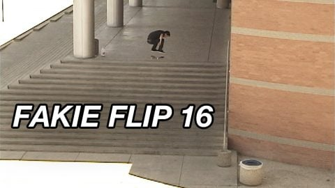 "Josh Hawkins ""Fakie Flip 16 Stair Attempts"" April 8, 2010 