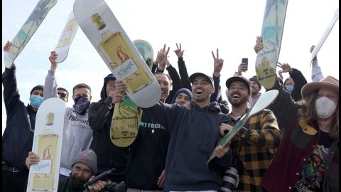 JP Souza Surprised with his pro model V/SUAL boards by Joey Brezinski and crew | Visual