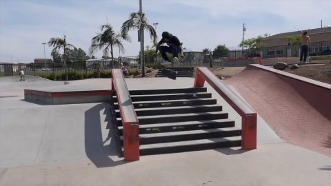 KICKFLIP EVERYTHING AT LINDA VISTA SKATEPARK! | Vinh Banh