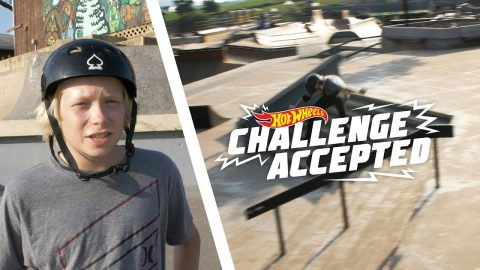 Kickflip Front Board The 8 Stair Rail - Hot Wheels Challenge Accepted   Camp Woodward
