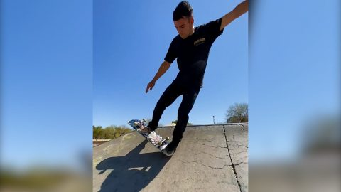 KILIAN MARTIN - Half-cab blunt to casper slide big spin | A Happy Medium Skateboarding