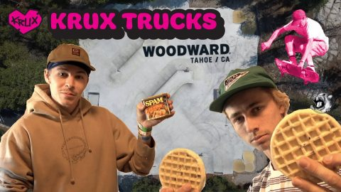 Krux Trucks: Aaron Goure and Travis Harrison Flip Out at Woodward Tahoe | Krux Trucks