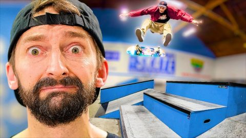 LASER FLIP EVERYTHING IN THE SKATEPARK CHALLENGE! | Braille Skateboarding