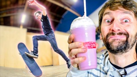 LEARN TO STRAWBERRY MILKSHAKE IN 30 MIN CHALLENGE | Braille Skateboarding