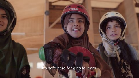 Learning to Skateboard in a Warzone (if you're a girl): TRAILER   Skateistan