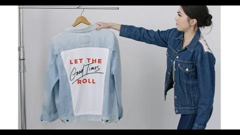 Levi's® DIY: How to Customize the Back of Your Jean Jacket | Levi's®