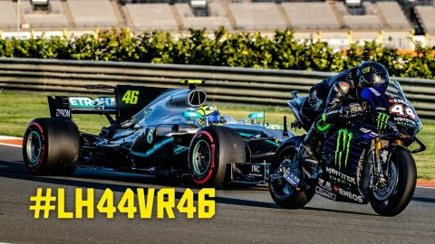 Lewis Hamilton & Valentino Rossi: The Ultimate Ride Swap | Monster Energy