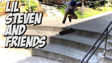 LIL KID STEVEN FERNANDEZ AND FRIENDS STREET SKATING AND MORE !!! - NKA VIDS - - Nka Vids Skateboarding