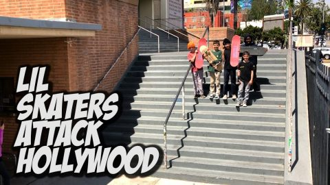 LIL KIDS ATTACK HOLLYWOOD HIGH AND MORE !!! - NKA VIDS - - Nka Vids Skateboarding