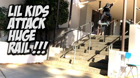 LIL KIDS CONQUER HUGE RAIL AND MUCH MORE !!! - NKA VIDS - | Nka Vids Skateboarding