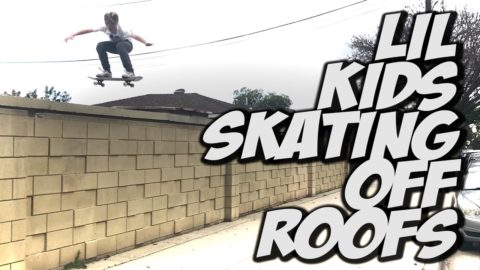 LIL SKATER KIDS JUMPING OFF ROOFS !!! - A DAY WITH NKA - - Nka Vids Skateboarding