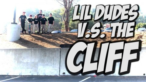 LIL SKATER KIDS V.s. THE CLIFF !!! - NKA VIDS - - Nka Vids Skateboarding