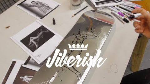 Lisa Solberg for Jiberish Collab Skate Decks | Jiberish