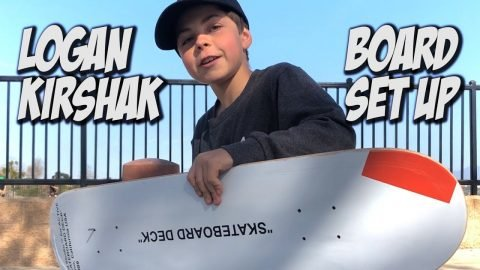 LOGAN KIRSHAK BOARD SET UP & INTERVIEW !!! - NKA VIDS - - Nka Vids Skateboarding