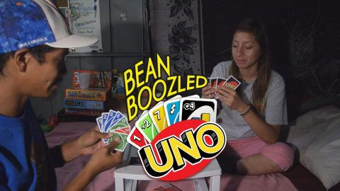 LONGEST GAME OF UNO!!! (LOSER EATS A BEAN!) - Vinh Banh