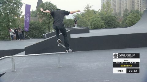 Martin Pek: 3rd Final Skateboard Street Pro - FISE World Series Chengdu - FISE
