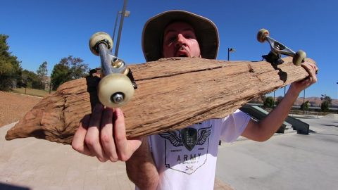 MASSIVE DRIFTWOOD PIECE SKATEBOARD! | YOU MAKE IT WE SKATE IT EP 153 - Braille Skateboarding