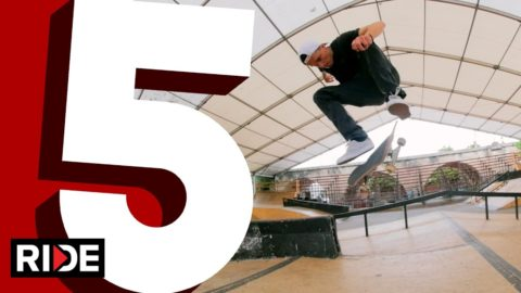 Maxim Habanec's Five Favorite Flip Tricks at Mystic Skatepark - RIDE Channel