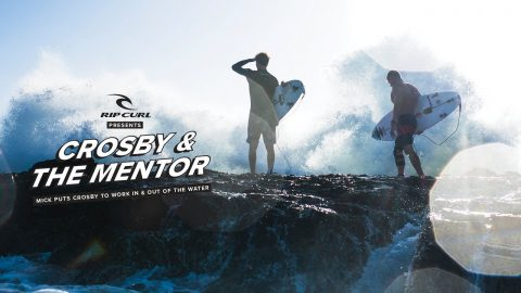 Mick Fanning Puts Crosby Colapinto to Work In and Out of the Water | Rip Curl
