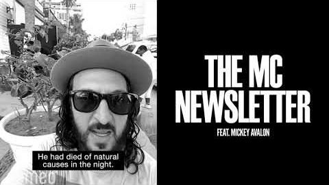 Mickey Avalon - The MC Newsletter | Monster Children