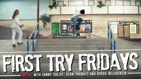 'Mid90s' Cast - First Try Fridays… LIVE! | The Berrics