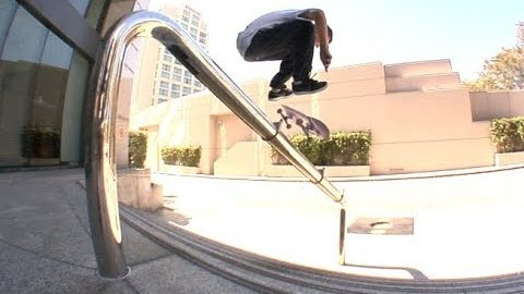 Mike Patterson Fakie 360 Flip to Switch Flip Over Rail Line Raw Cut | E. Clavel