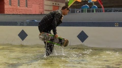 Mike Patterson fs Smith to Manual Kickflip into Water Raw Cut   E. Clavel