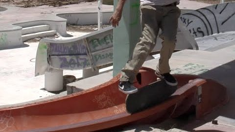 Mike Patterson Kickflip Grind Transfer to Boardslide Raw Cut | E. Clavel