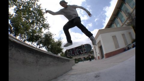 Mike Piwowar Nollie Halfcab Switch Krooks , Fakie Tre , Switch bs Tail Switch bs Flip Raw Cut | E. Clavel