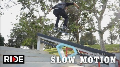 Mike Piwowar Skateboarding in Slow Motion - RIDE Channel