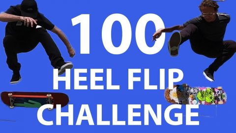 Mikemo and Neen Williams 100 Heel Flip Challenge | Mike Mo Capaldi