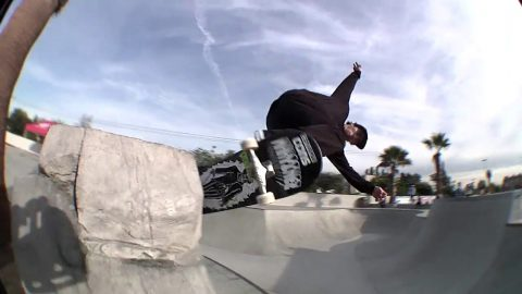 Milton Martinez Destroying Vans Huntington Beach Park: Blow'n Up The Spot! - Independent Trucks