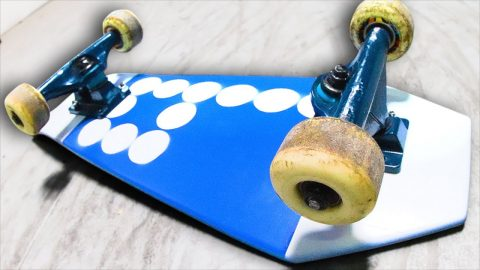 MINI RECYCLED COFFIN BOARD?! YOU MAKE IT WE SKATE IT | Braille Skateboarding