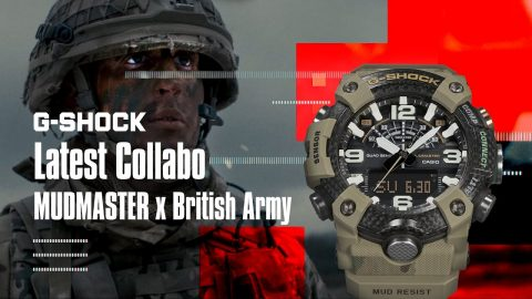 Mudmaster Collabo G-SHOCK x British Army | GG-B100BA #NeverGiveUP | gshockeu
