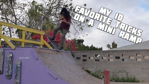 MY 10 FAVORITE TRICKS ON MINI RAMP! | Vinh Banh