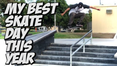 MY BEST SKATE DAY THIS YEAR !!! - NKA VIDS - - Nka Vids Skateboarding